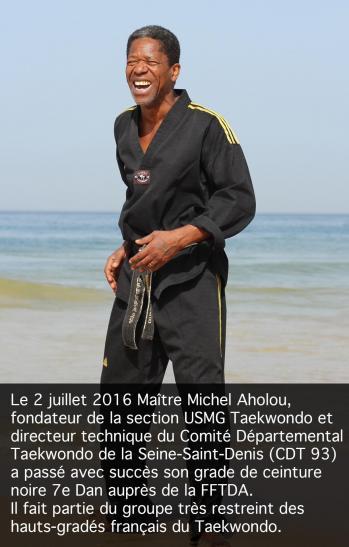 Usmg taekwondo 2017 michel aholou 7e dan